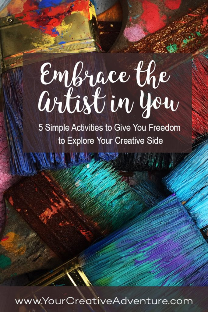 "I decided to create a new class, ""Embrace the Artist In You: 5 Simple Activities to Give You Freedom to Explore Your Creative Side."" This class is currently completely free to join."