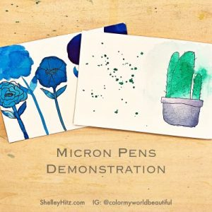 micron pens demonstration