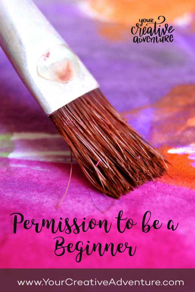In this blog post, I want to share a quick message with you about how sometimes you need to give yourself permission to be a beginner in your art.