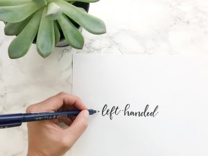 left handed brush lettering