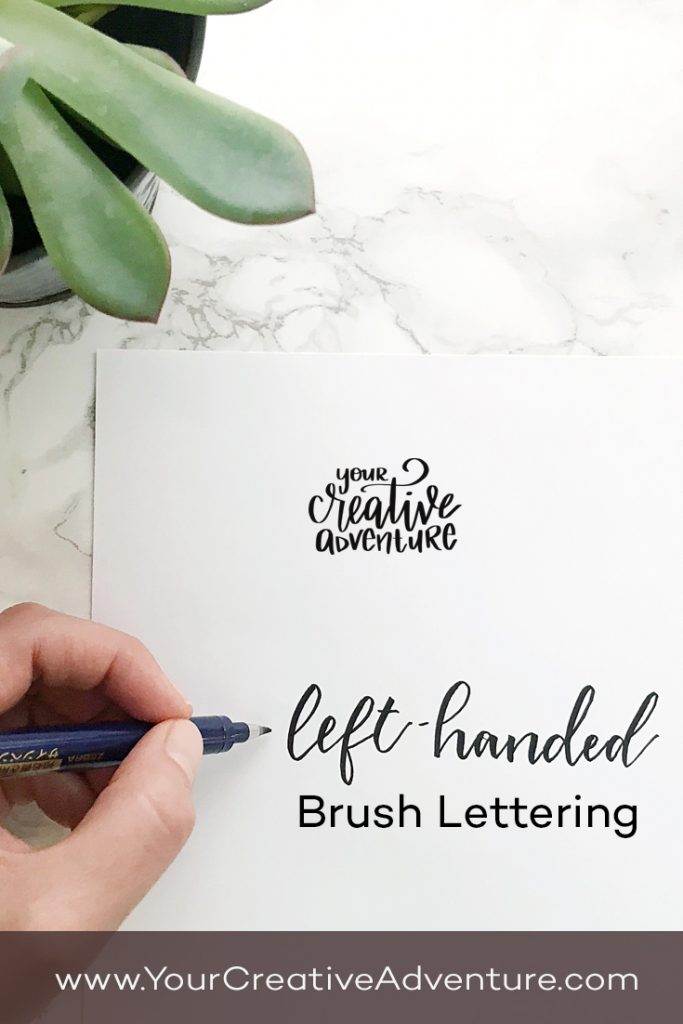 It is estimated that about 10% of the population is left-handed. In this post, I share tips for left handed brush lettering.
