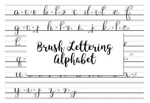 brush lettering alphabet