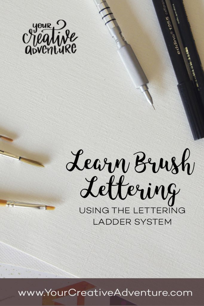 Learn brush lettering for relaxation and create beautiful art! Lettering can be difficult to learn. Therefore, I developed the Lettering Ladder system.