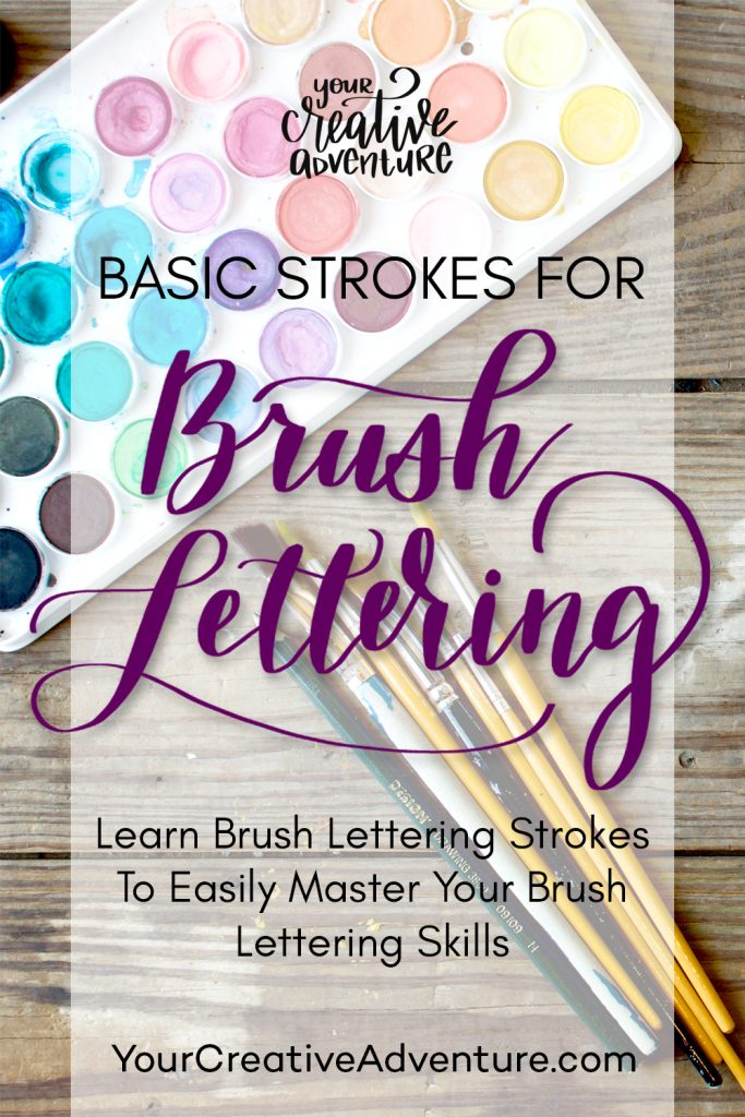 Basic strokes brush lettering