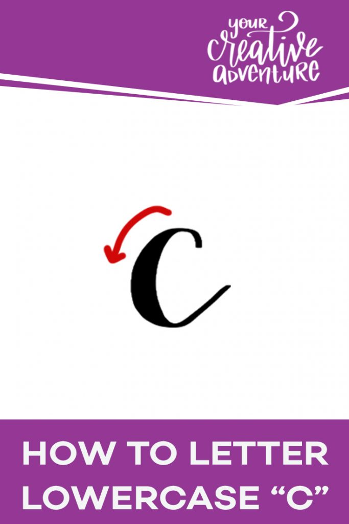 How to Letter Lowercase C
