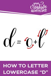 How to letter lowercase d