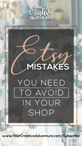 Don't make this mistake on Etsy. Know what to avoid when setting up your Etsy Shop as you go through this post. I also share some Etsy marketing tips that may be helpful in setting up and improving your shop on Etsy. Enjoy!